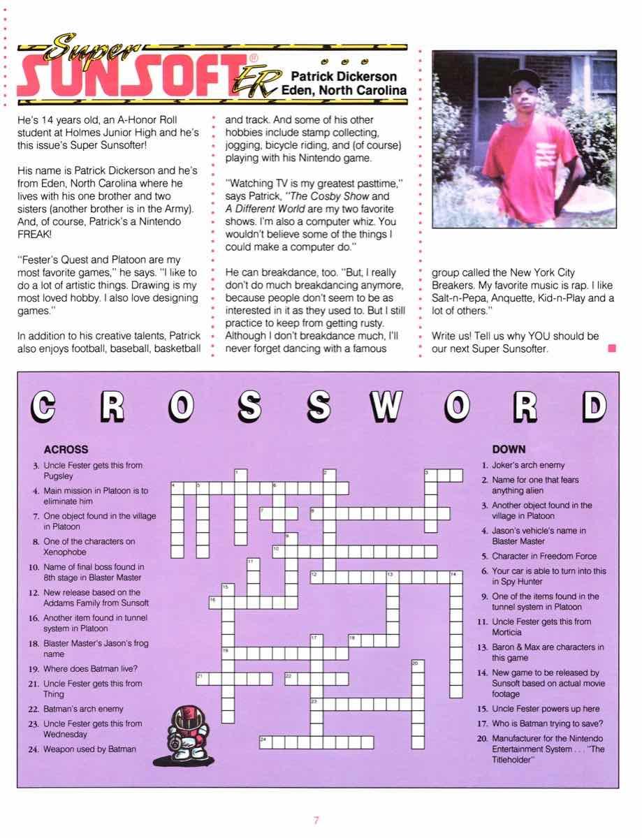 Sunsoft Game Time News 04 Fall 1989 page 7