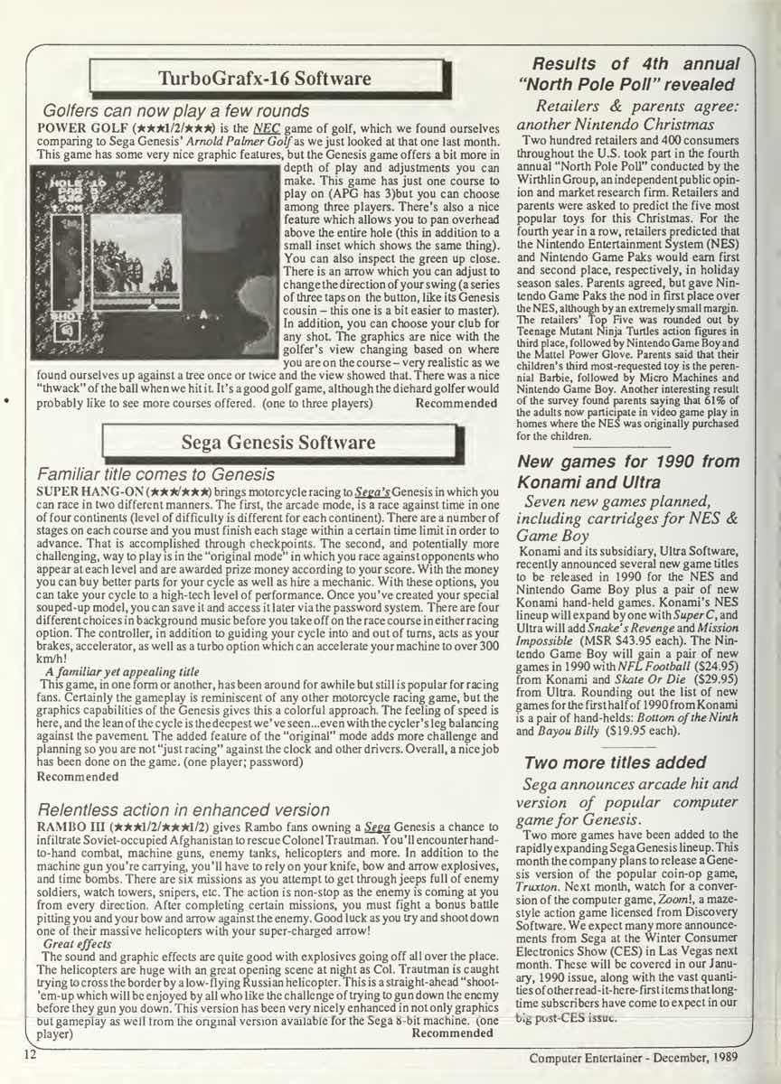 Computer Entertainer | December 1989 p12