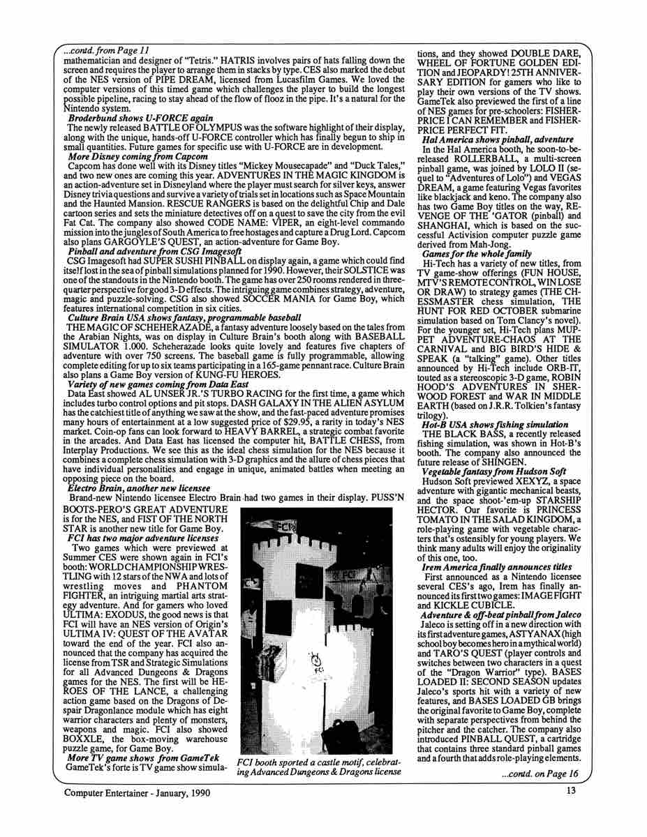 Computer Entertainer | January 1990 p13