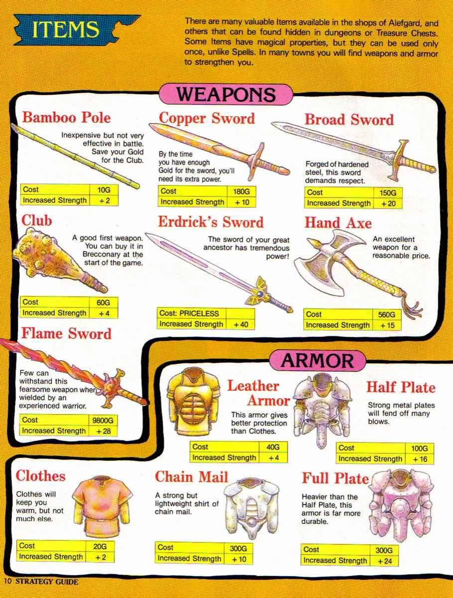 Nintendo Power | November December 1989 | Dragon Warrior Strategy Guide pg-10