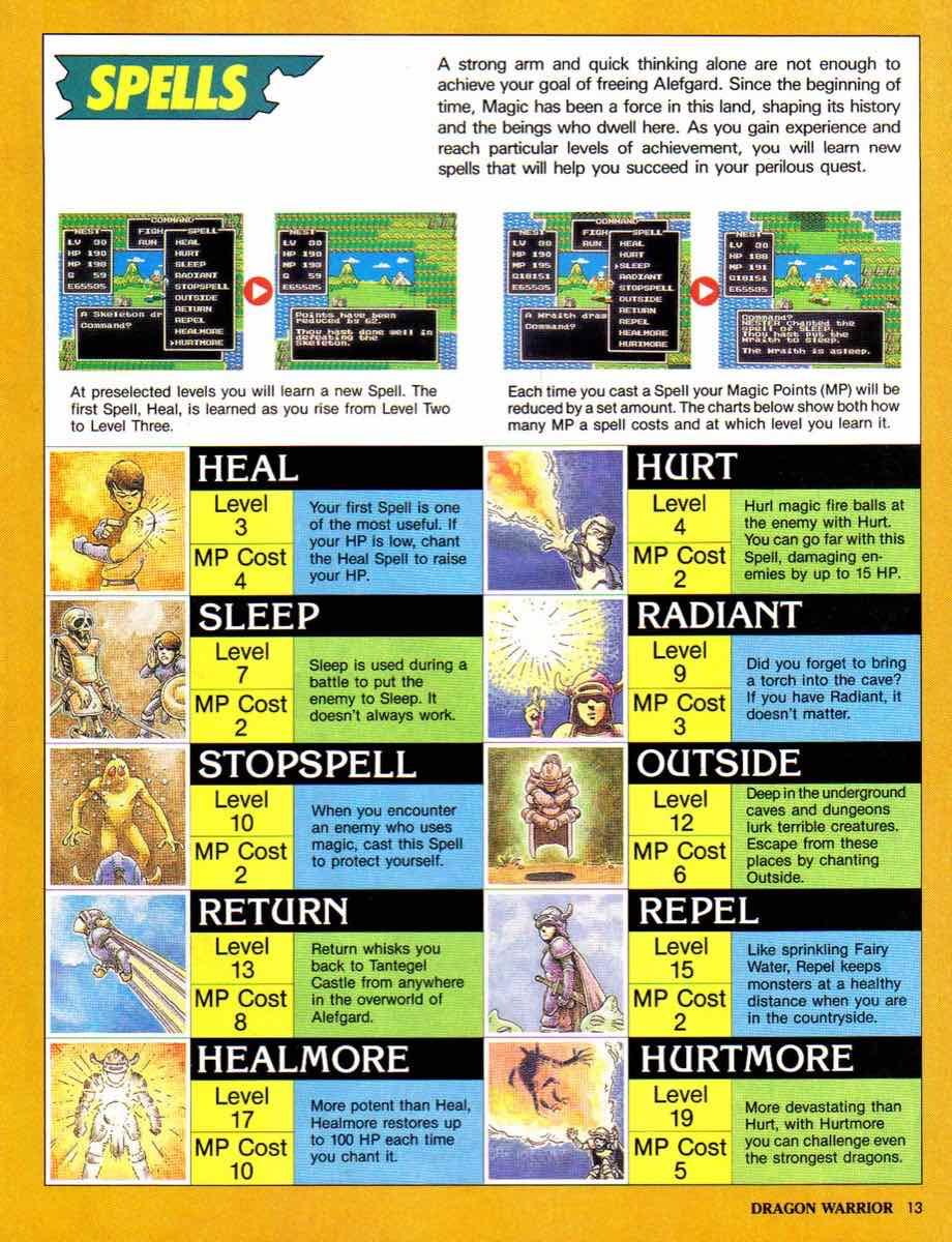 Nintendo Power | November December 1989 | Dragon Warrior Strategy Guide pg-13