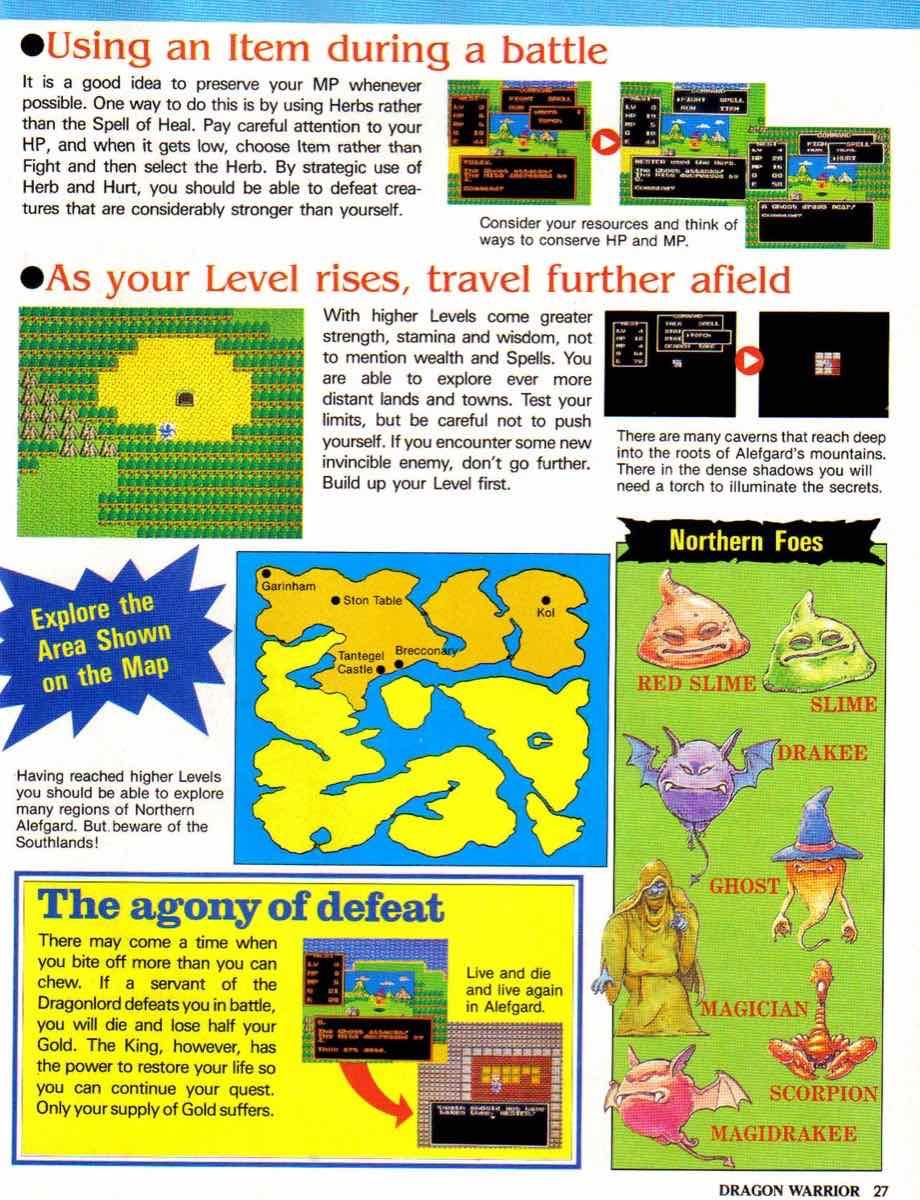 Nintendo Power | November December 1989 | Dragon Warrior Strategy Guide pg-27
