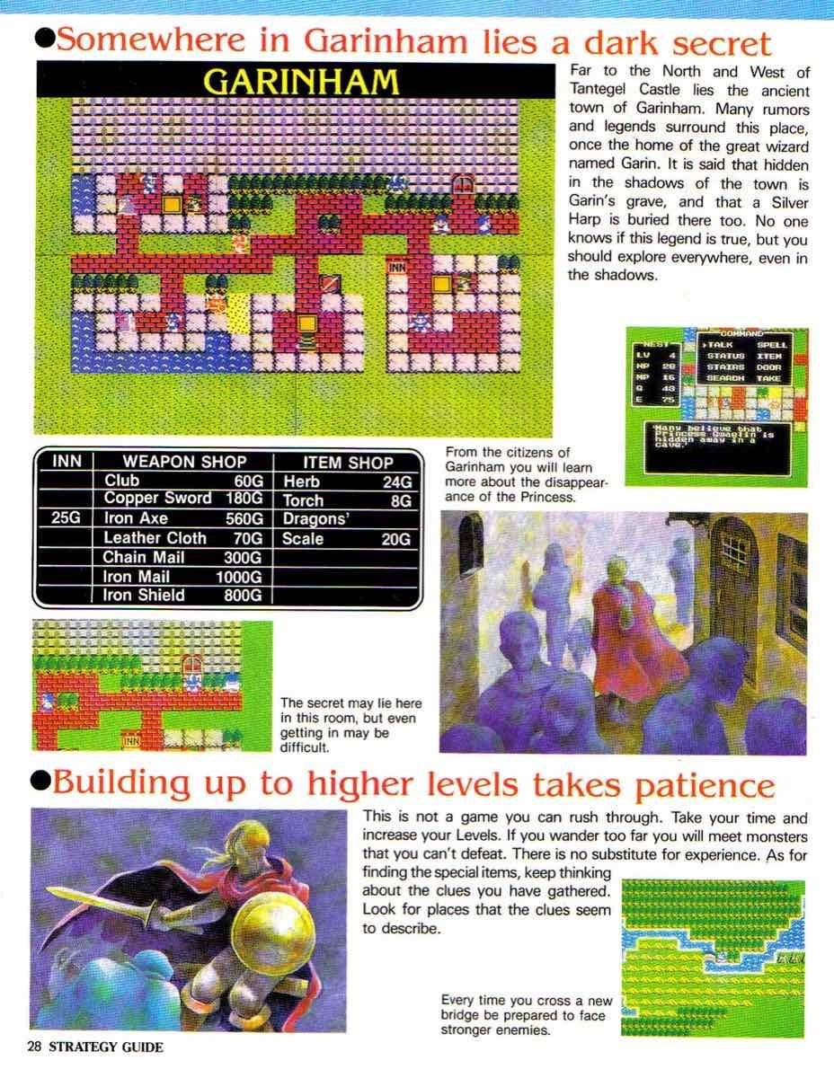 Nintendo Power | November December 1989 | Dragon Warrior Strategy Guide pg-28