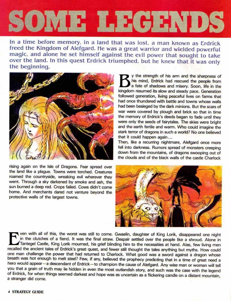 Nintendo Power | November December 1989 | Dragon Warrior Strategy Guide pg-4