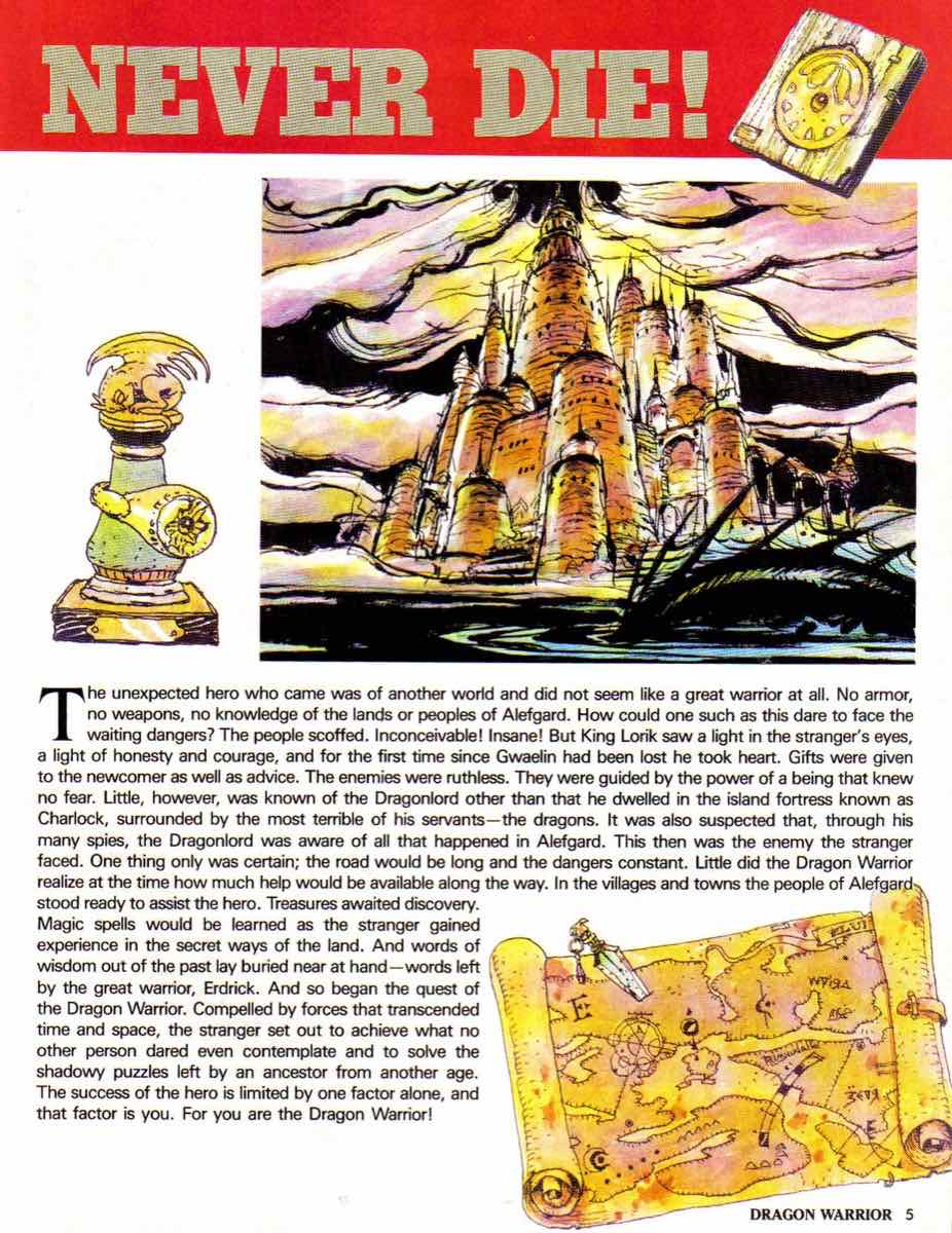 Nintendo Power | November December 1989 | Dragon Warrior Strategy Guide pg-5