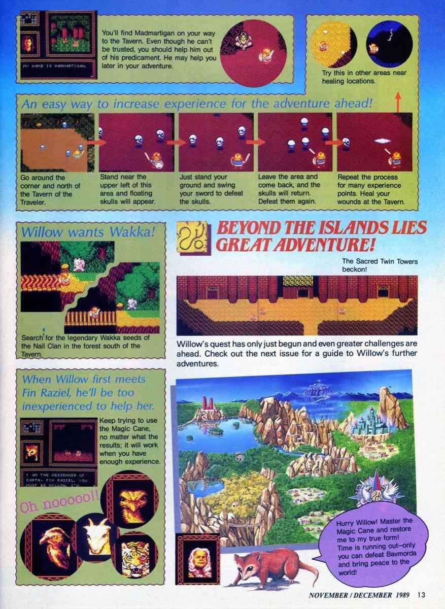 Nintendo Power | November December 1989 pg-13