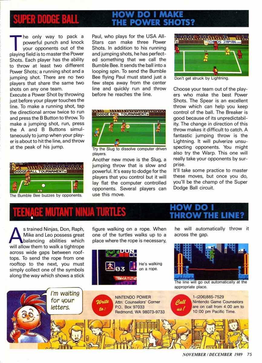 Nintendo Power | November December 1989 pg-75