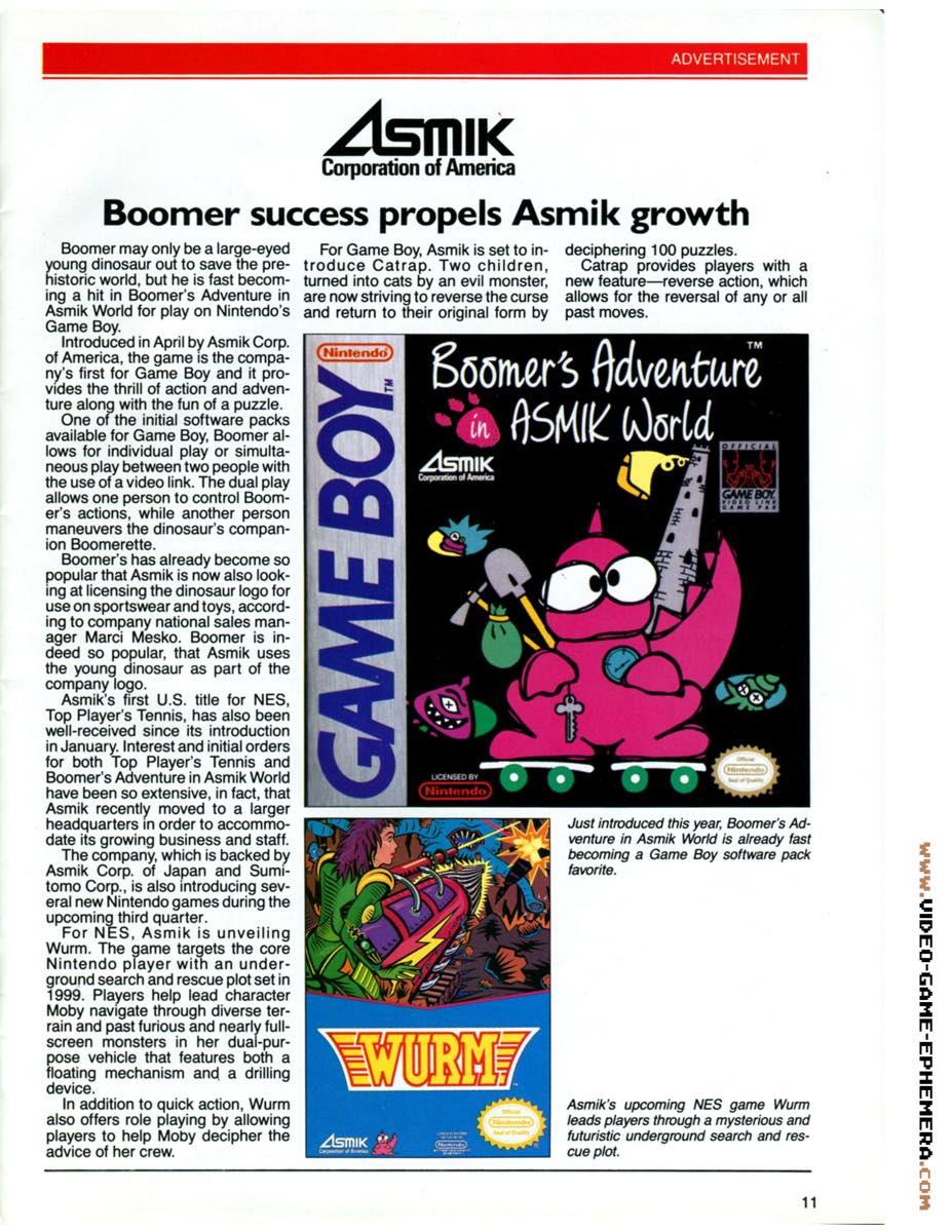 1990 World of Nintendo Buyers Guide p11