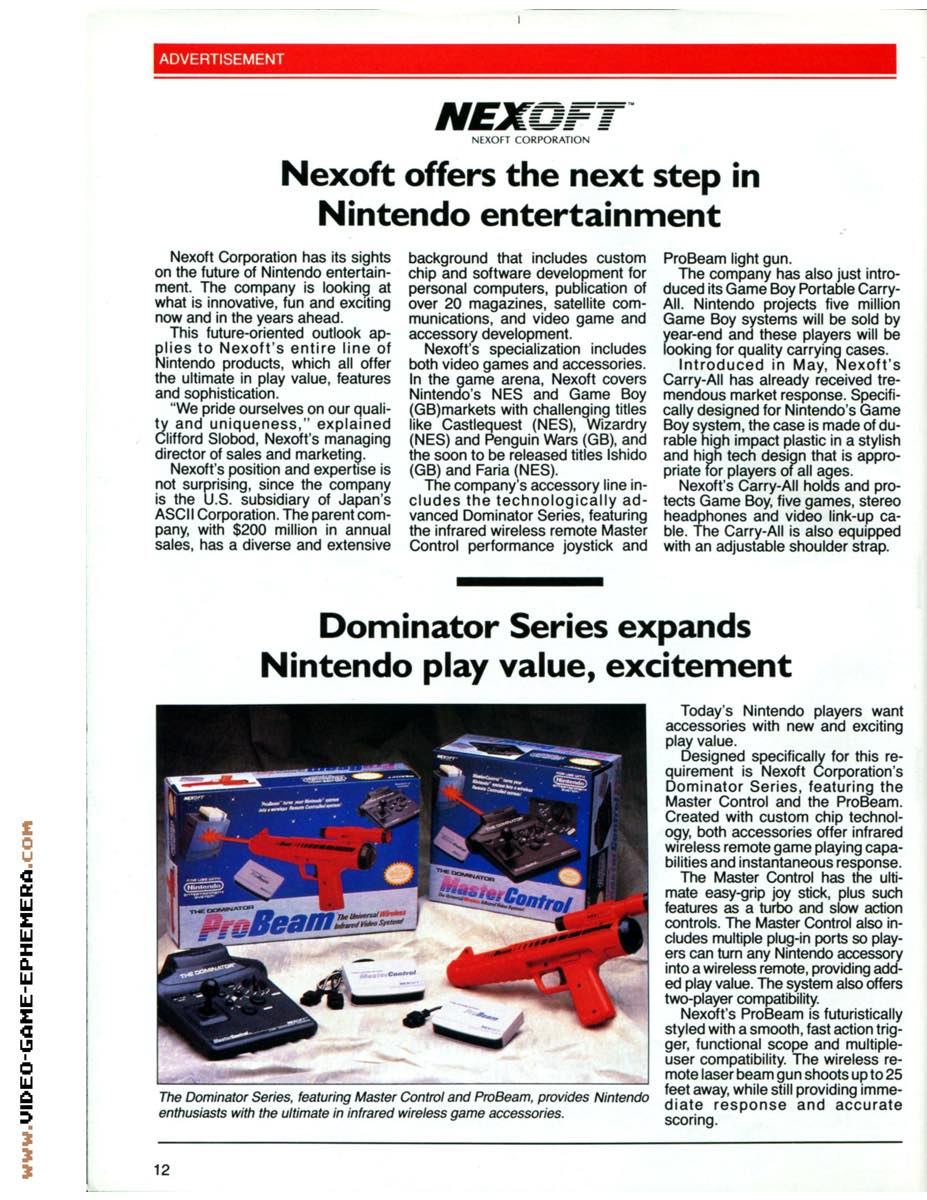 1990 World of Nintendo Buyers Guide p12