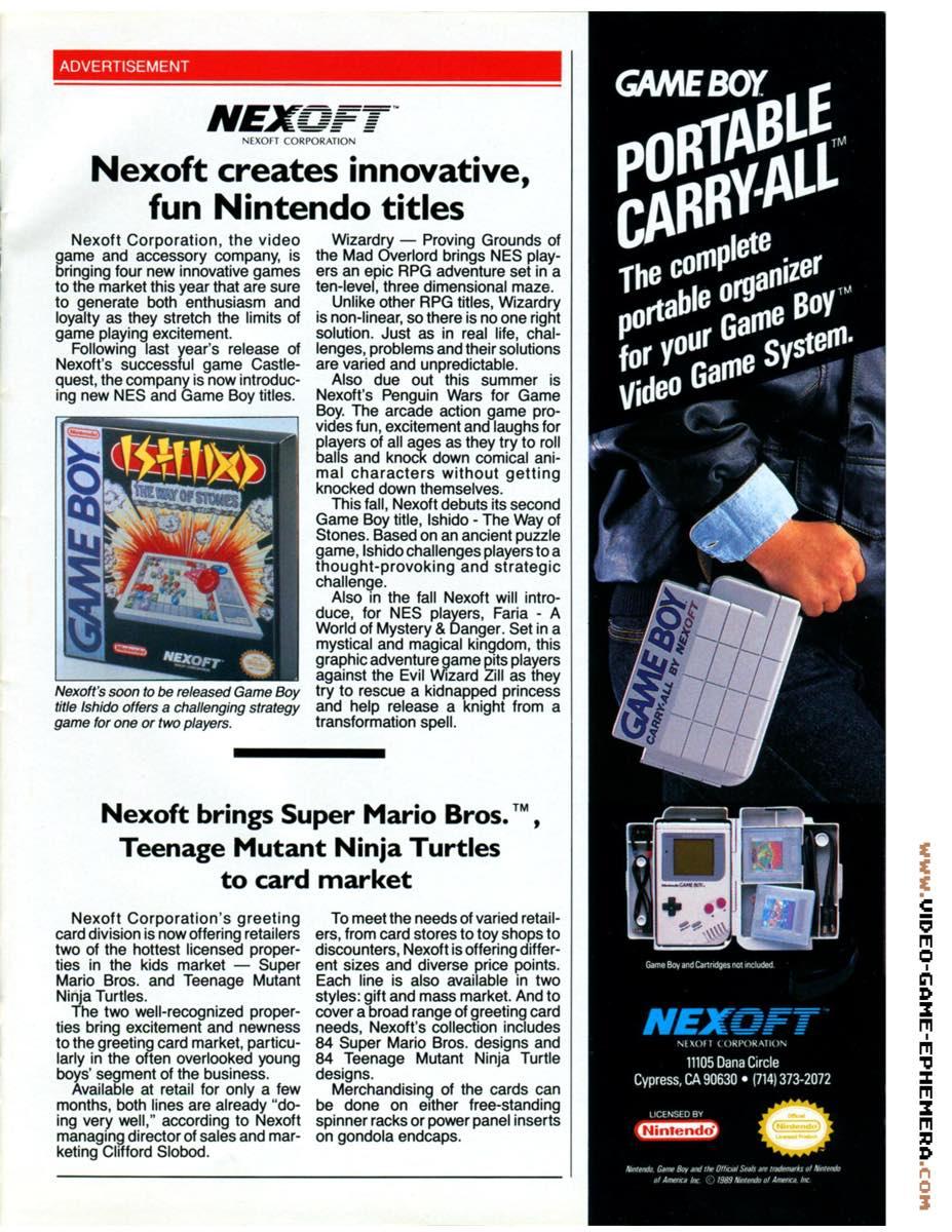 1990 World of Nintendo Buyers Guide p15
