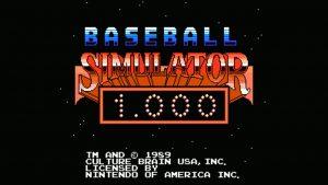 Baseball Simulator 1.000 (NES) Game Hub