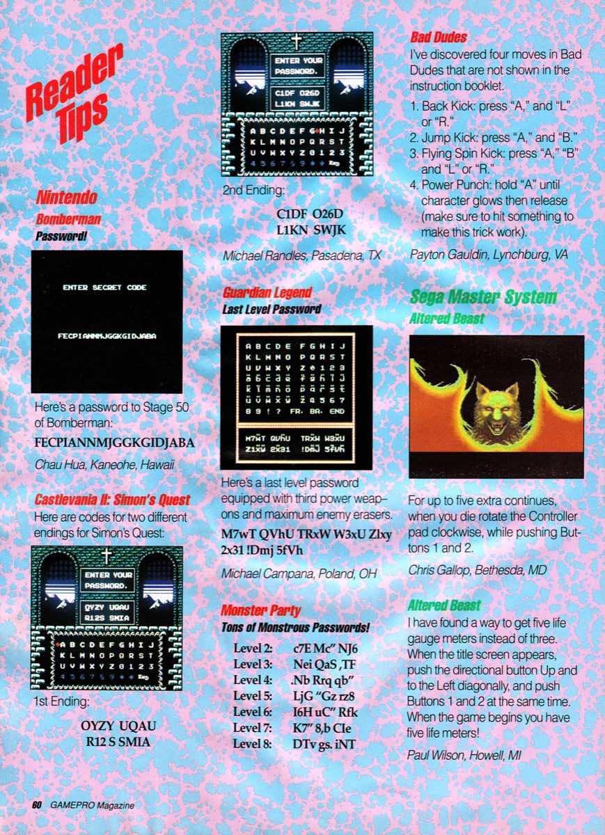 GamePro | January 1990-60