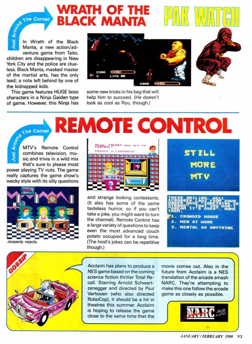 Nintendo Power | January-February 1990-93