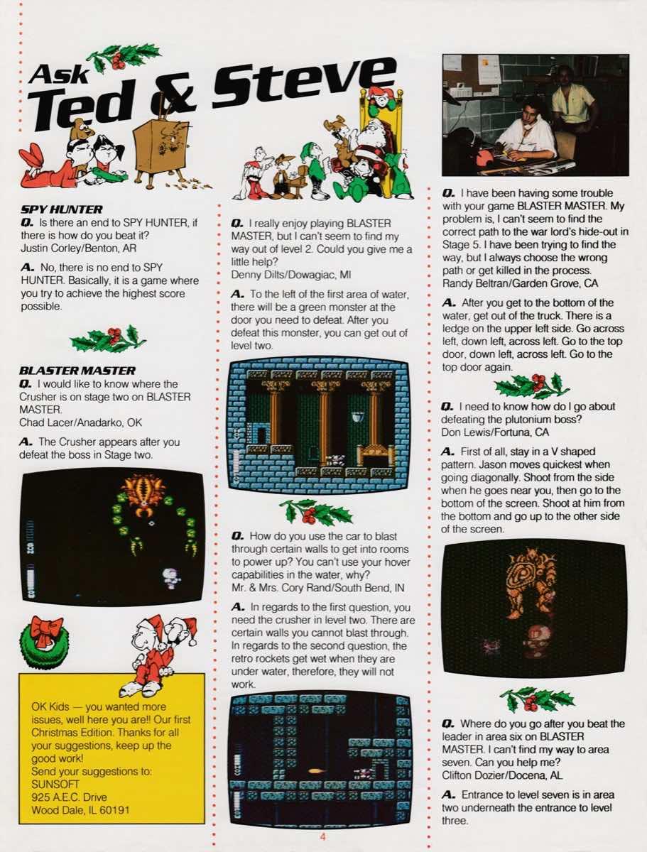 Sunsoft Game Times News | Christmas 1989-4