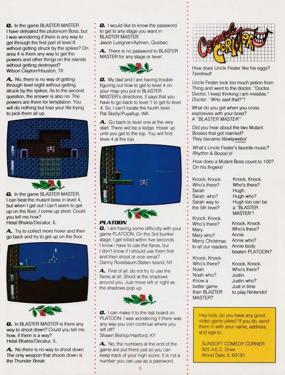 Sunsoft Game Times News | Christmas 1989-5