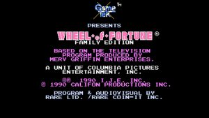 Wheel Of Fortune: Family Edition (NES) Game Hub