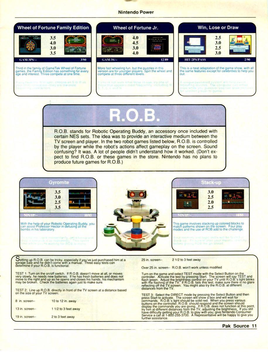 Nintendo Power Pak Source | March April 1990 p-11