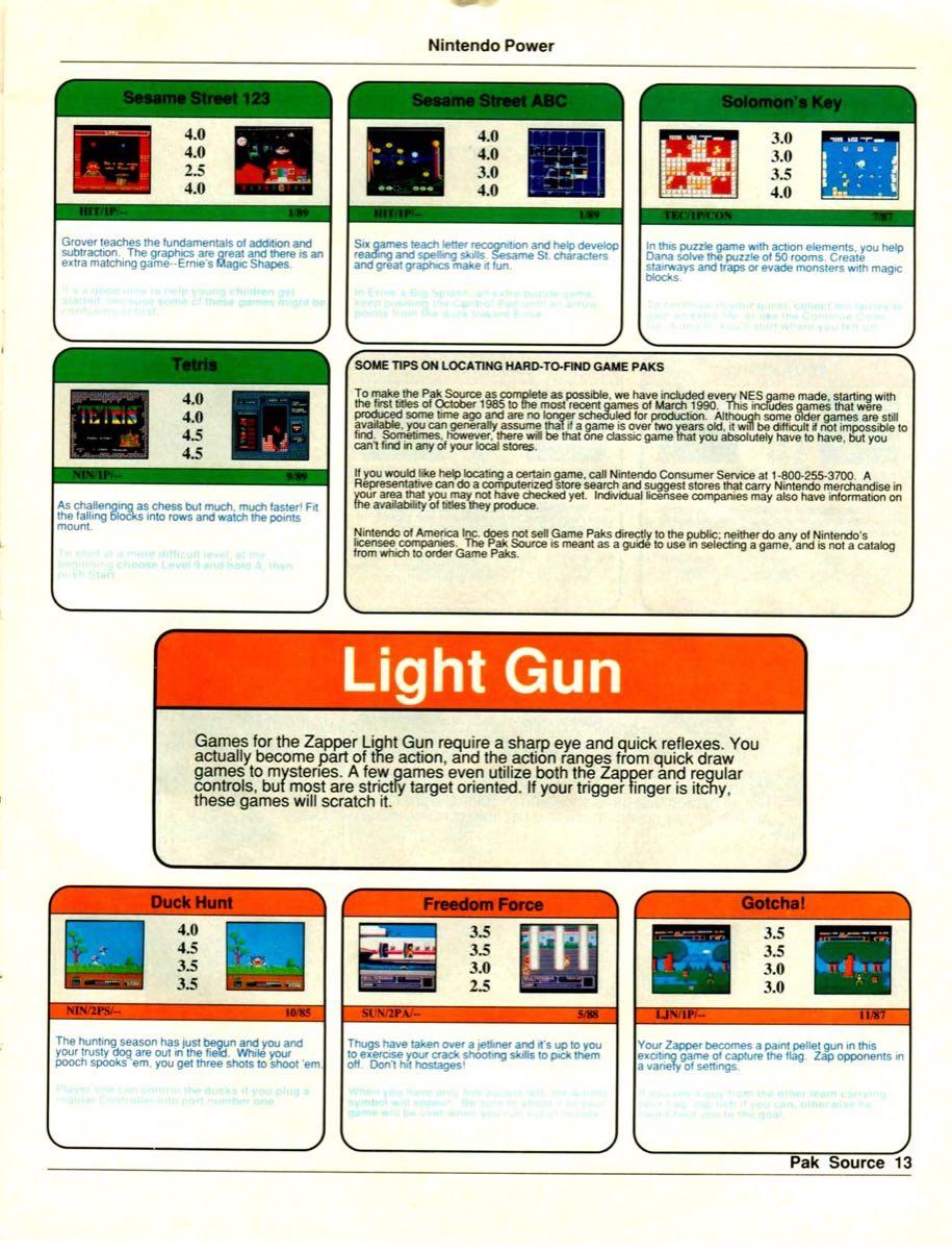 Nintendo Power Pak Source | March April 1990 p-13