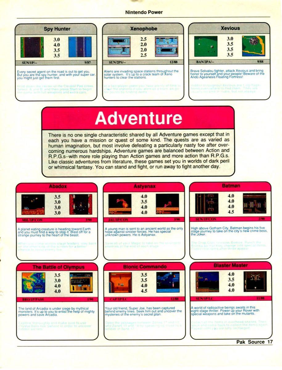 Nintendo Power Pak Source | March April 1990 p-17