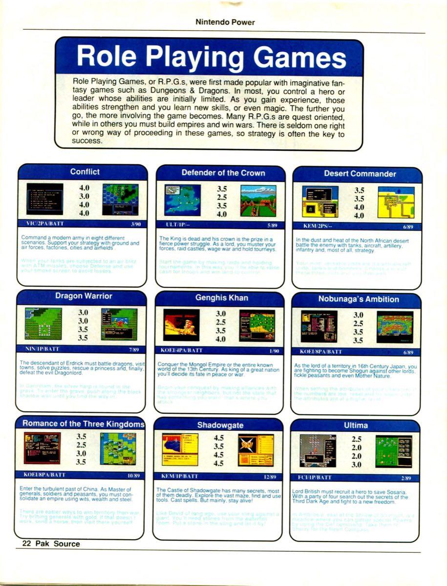 Nintendo Power Pak Source | March April 1990 p-22