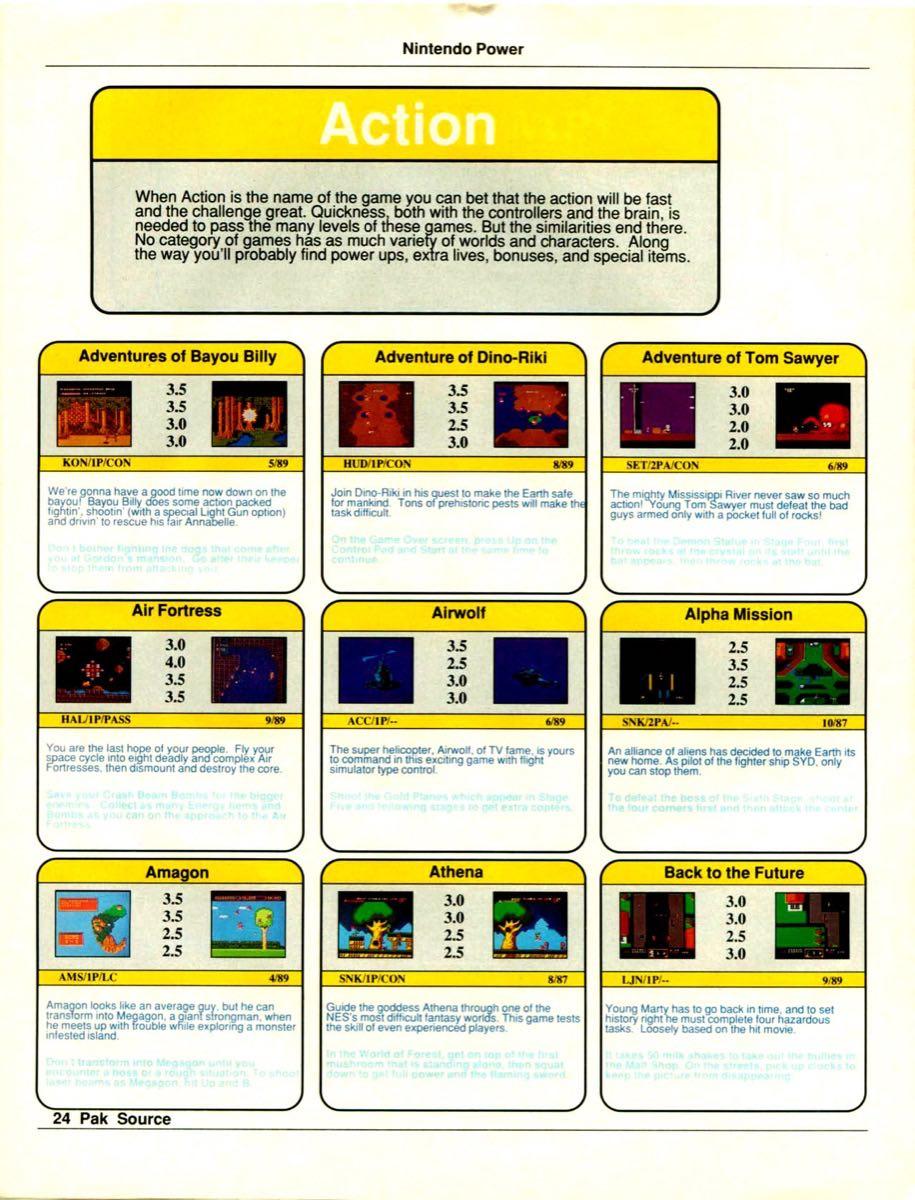Nintendo Power Pak Source | March April 1990 p-24