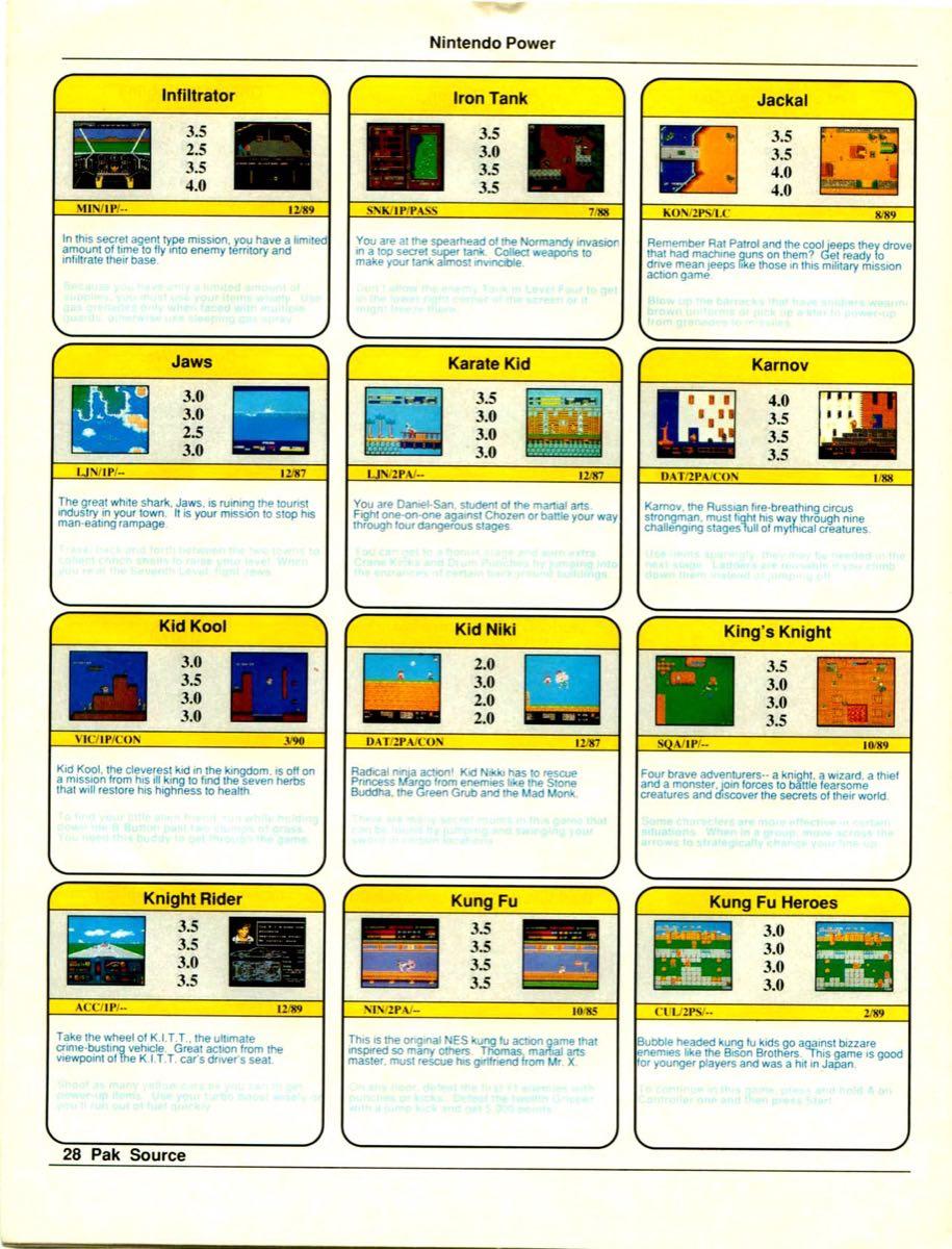 Nintendo Power Pak Source | March April 1990 p-28
