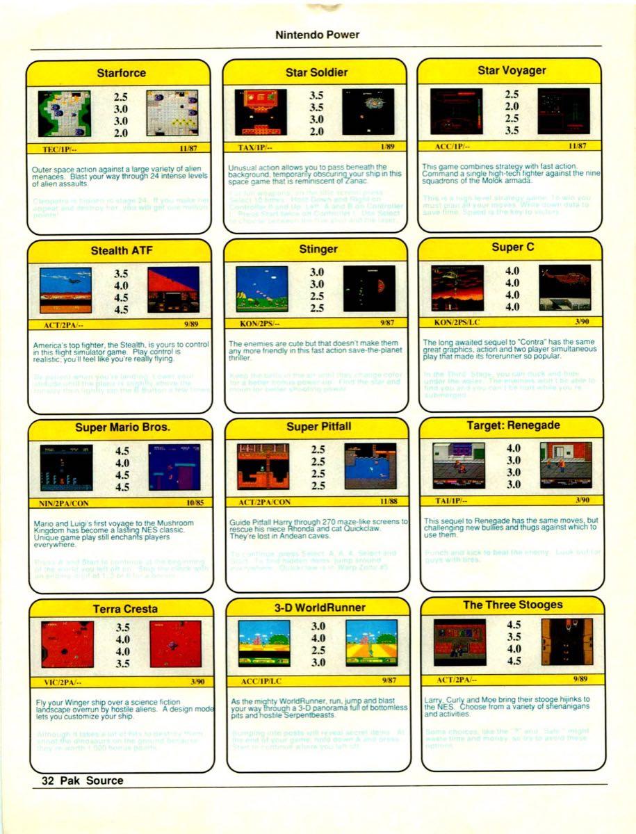 Nintendo Power Pak Source | March April 1990 p-32