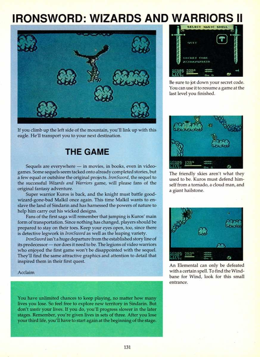 Game Player's Encyclopedia of Nintendo Games page 131