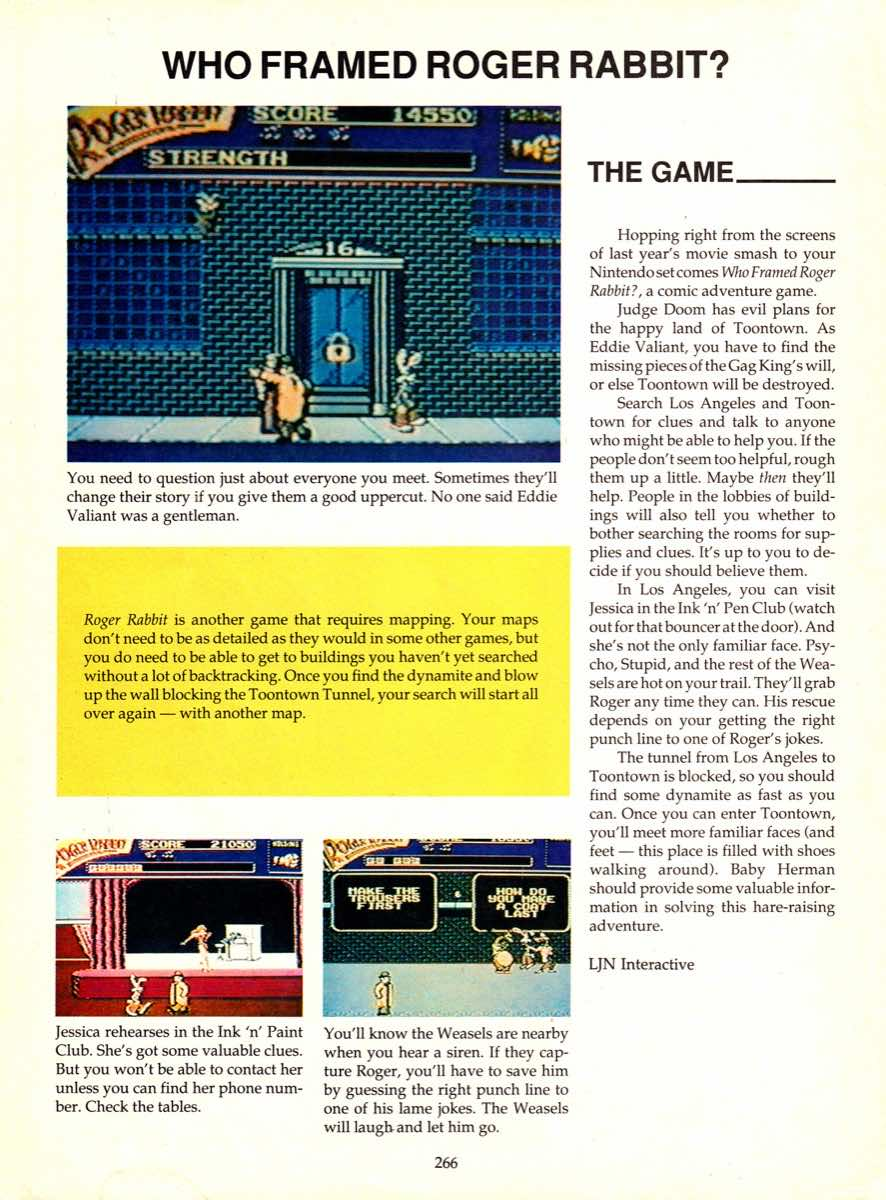 Game Player's Encyclopedia of Nintendo Games page 266