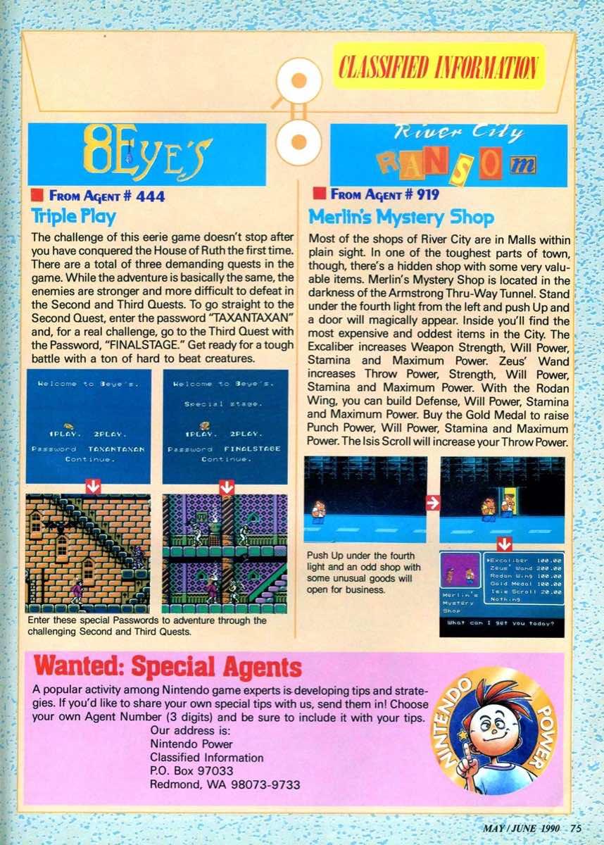 Nintendo Power | May June 1990 | p075