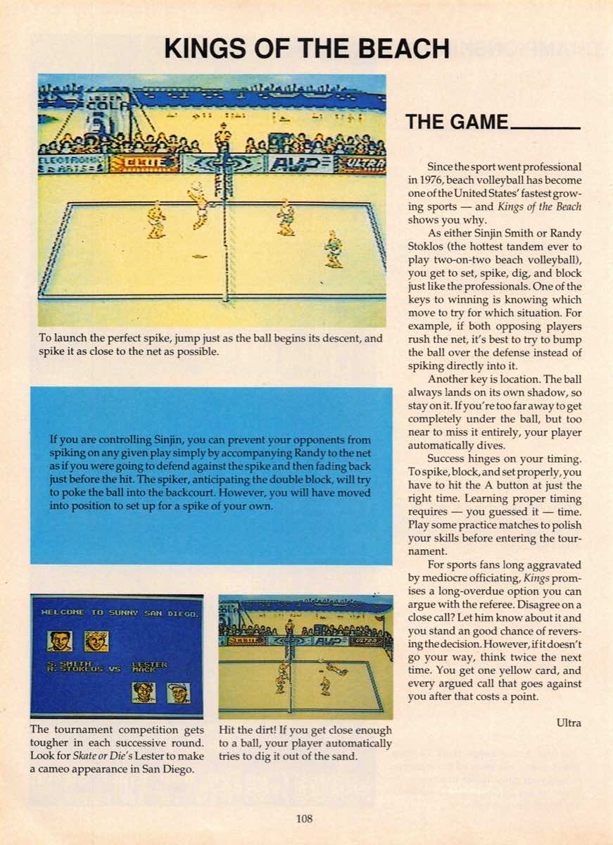 Game Players Guide To Nintendo   June 1990 p-108