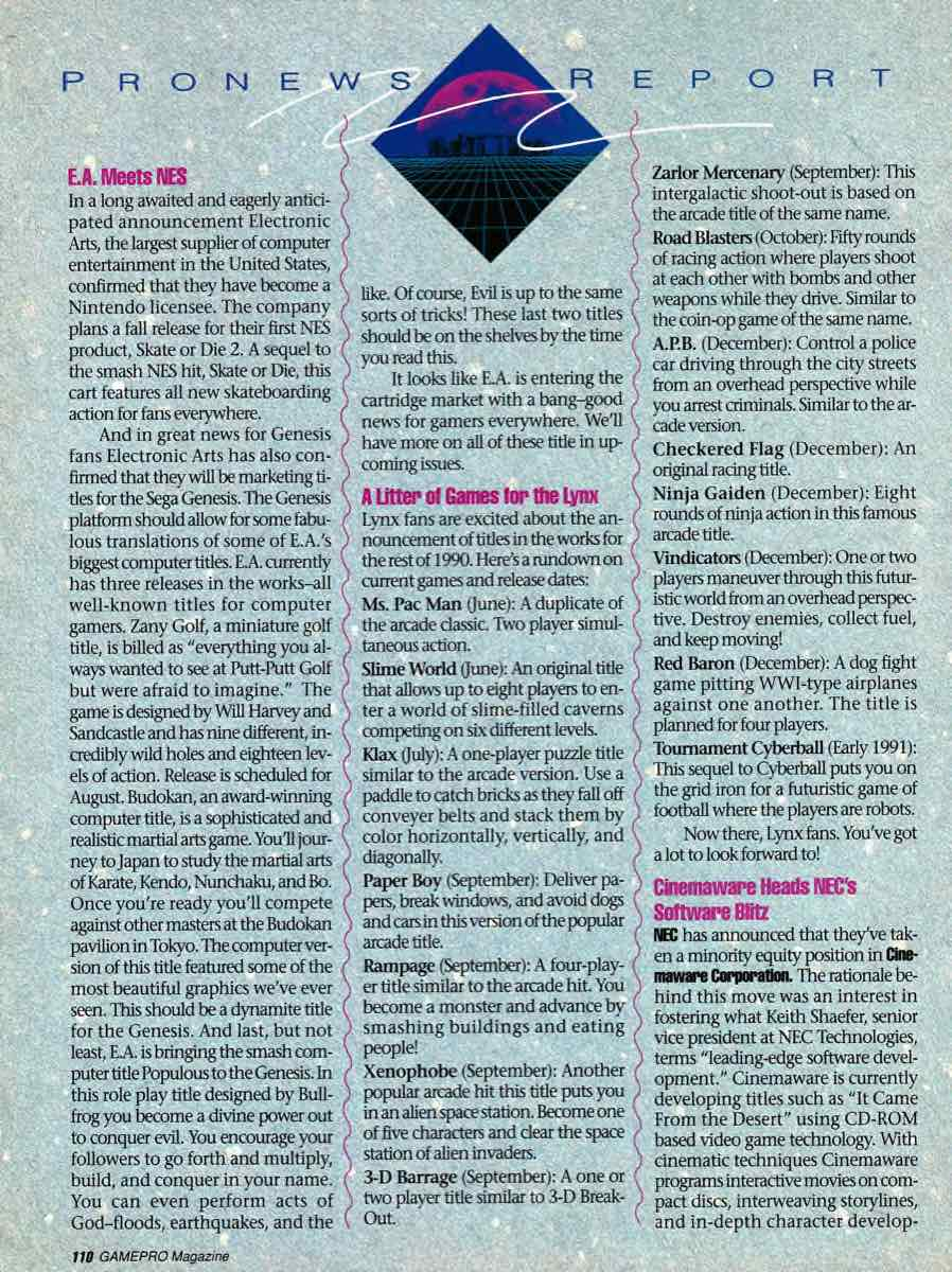GamePro | July 1990 p-110